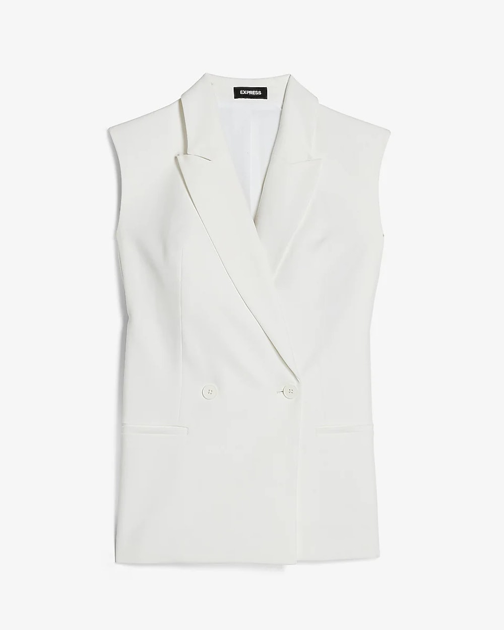 Supersoft Sleeveless Double Breasted Blazer
