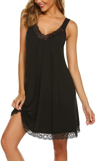 Ekouaer Sleepwear Chemise Nightgown