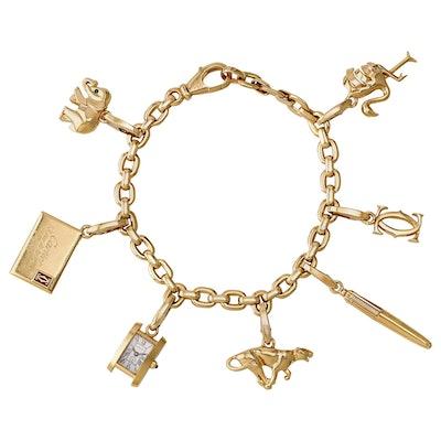 18 Karat Gold Charm Bracelet