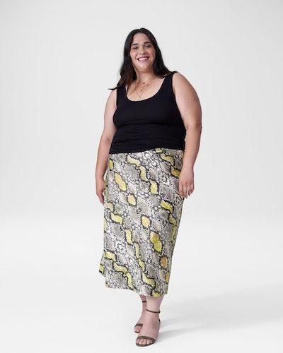 CeeCee Midi Bias Skirt