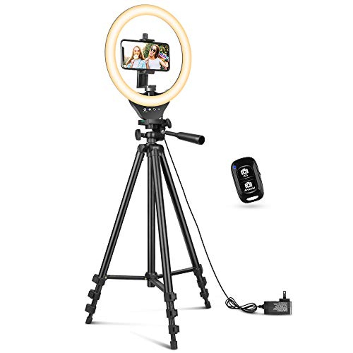 Sensyne 10'' Ring Light with 50'' Extendable Tripod Stand