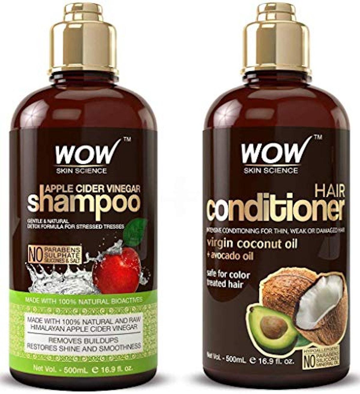 WOW Apple Cider Vinegar Shampoo and Hair Conditioner Set