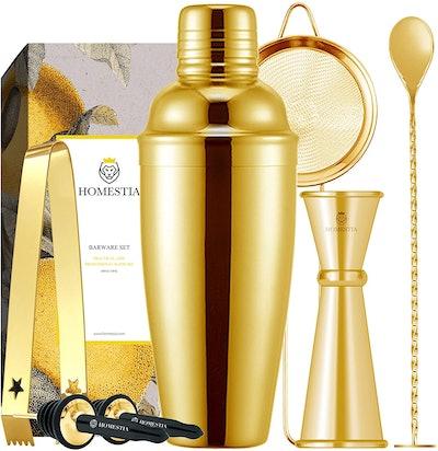 Homestia Gold Cocktail Shaker Set (7-Pieces)