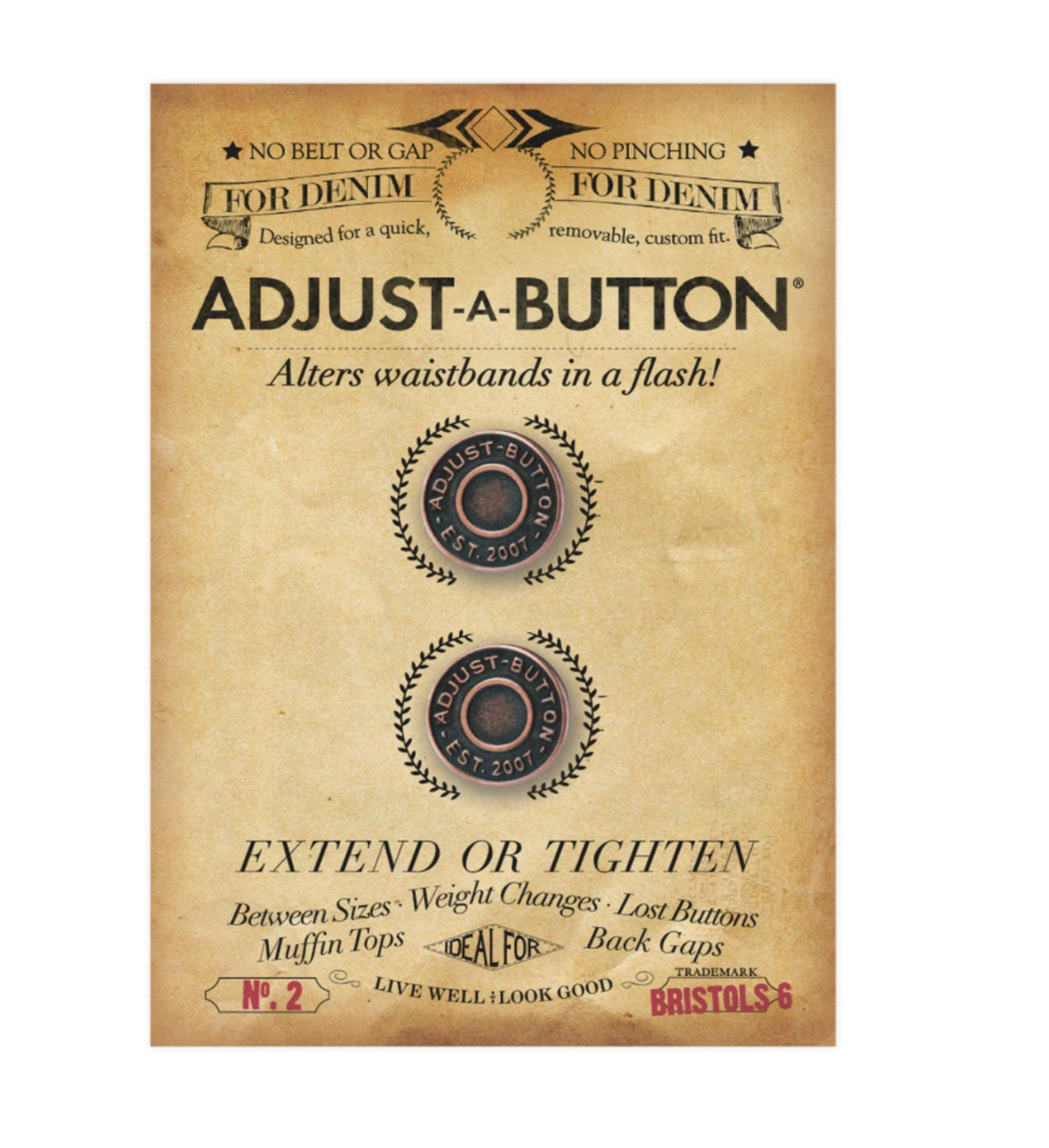 NIPPIES Adjust A Button for Denim