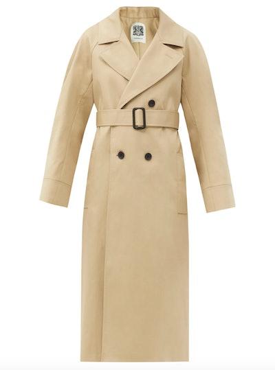 Belted Cotton-Gabardine Trench Coat