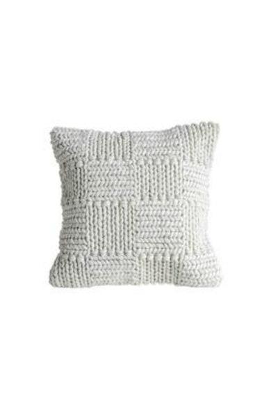 Knit Wool Cream Pillow