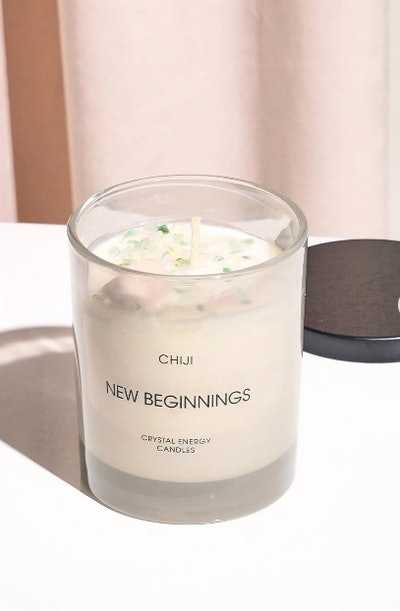 New Beginnings Crystal Energy Candle® - Made With Moonstone