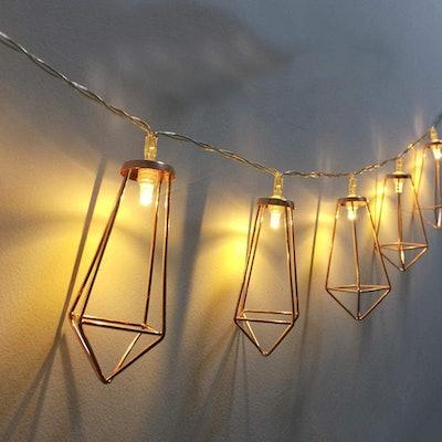 Twinkle Star Geometric String Lights