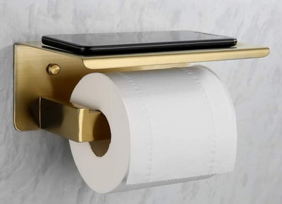 VELIMAX Toilet Paper Holder with Shelf