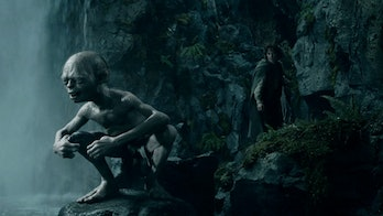 Gollum and Frodo in Lord of the Rings
