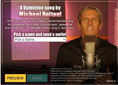 A Valentine Song by Michael Bolton