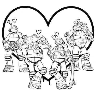 Teenage Mutant Ninja Turtles Coloring Pack