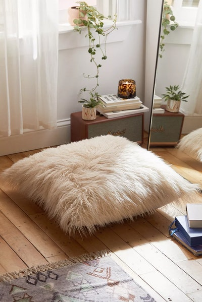 Mila Faux Fur Floor Pillow