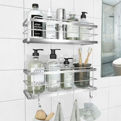 KINCMAX Shower Basket Shelf (2-Pack)