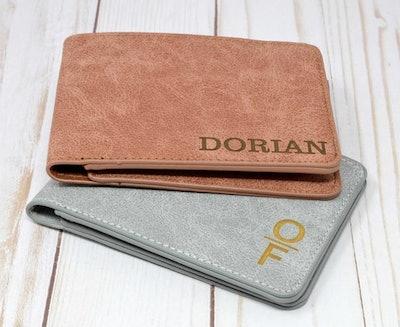 UrbanKraftsShop Personalized Men's Minimalist Wallet