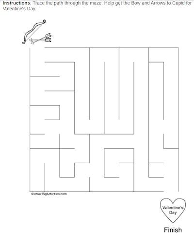 Valentine's Day Medium Maze