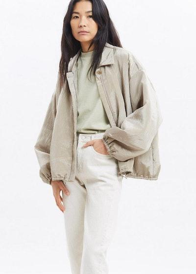 Silky Padded Blouson Jacket