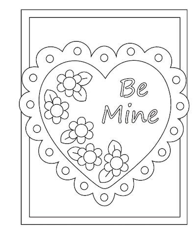 Valentine Card Be Mine