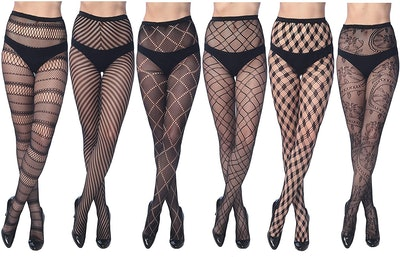 Frenchic Fishnet Lace Stockings (6-Pack)