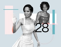 Regina King on directing 'One Night In Miami' and her life at 28 years old. Photos via Kevork Djansezian / Stringer, Ron Gallela / Getty