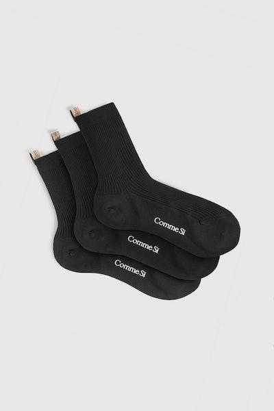 Cotton Black Sock Set