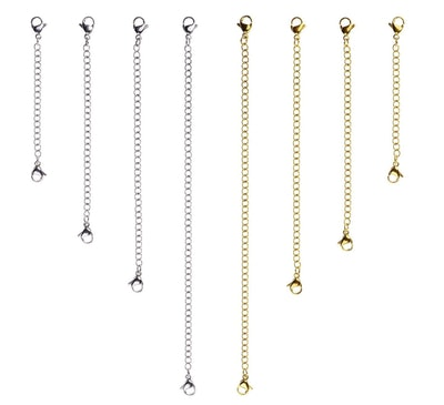 D-buy 8 Pcs Stainless Steel Necklace Extender