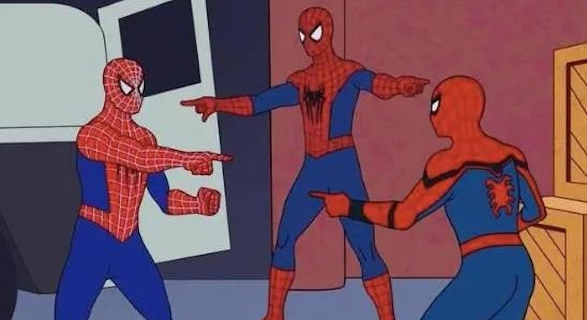 Spider Man meme pointing