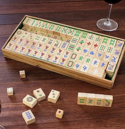 "Hand Made Wood Mah Jongg Game from Thailand, ""Mah Jongg"""