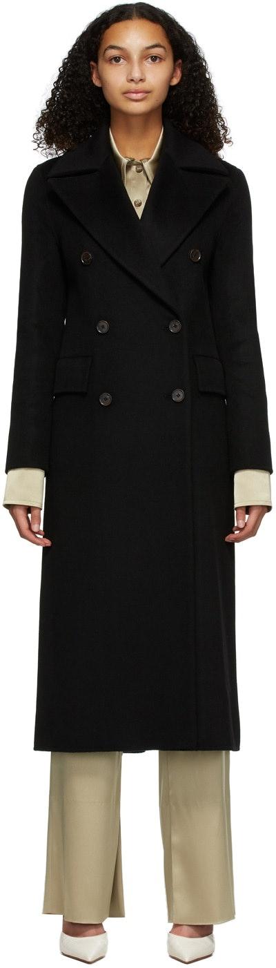 Black Wool Lana Coat