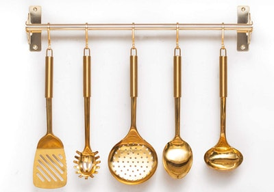 STYLED SETTINGS Brass Cooking Utensils  (5-Pack)