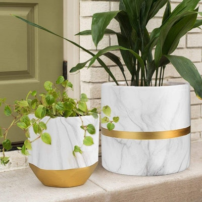 HOMENOTE White Ceramic Flower Pot