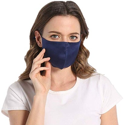 ROSEWARD 100% Mulberry Silk Face Adjustable Mask with Filter Pocket
