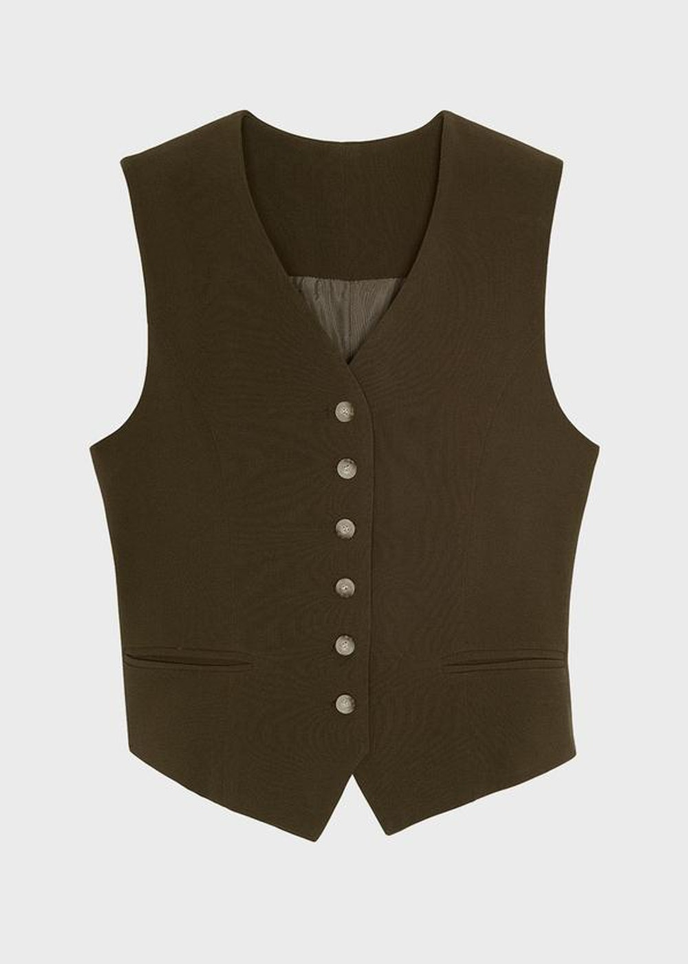 Tailored Vest in Cardomom