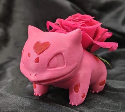 Pokémon Valentines Special Pink Bulbasaur Planter