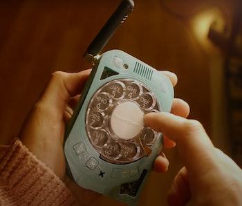 Screenshot of Justine Haupt's original rotary cellphone