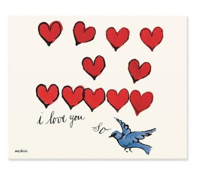 Warhol: I Love You So Matted Print