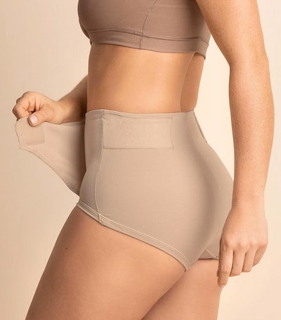 Leonisa Firm Compression Postpartum Panty with Adjustable Belly Wrap