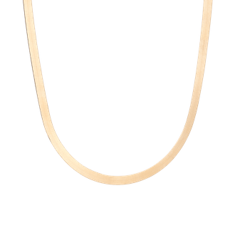 Gold Herringbone Chain Necklace