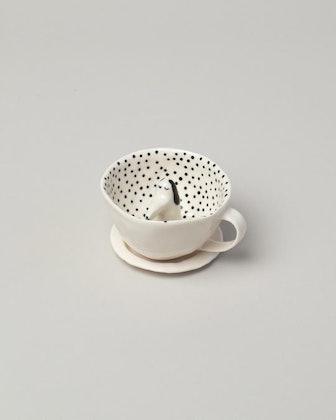 Eleonor Boström Sleepy Spotty Dog Tea Cup with Saucer