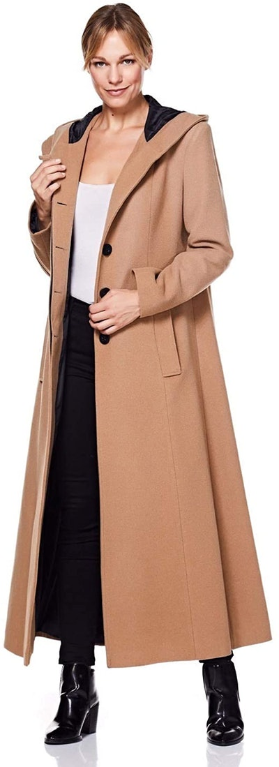 De la Creme Hooded Cashmere Wool Coat