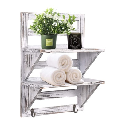 Rose Home Fashion RHF Rustic Bathroom Shelf