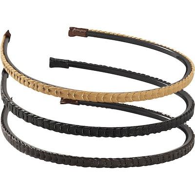 Riviera  Leather Braided Headband