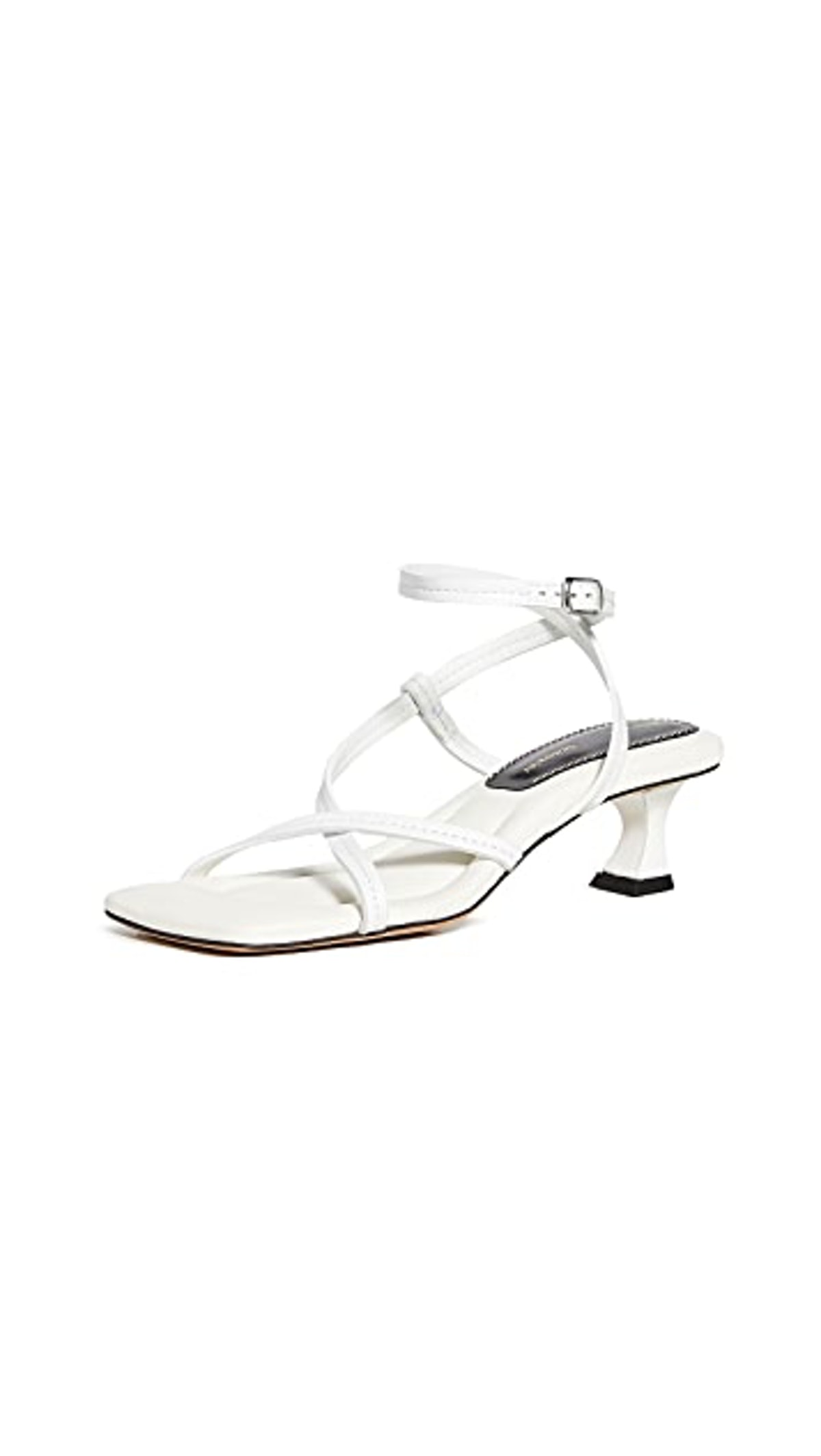 Square Toe Low Strappy Sandals