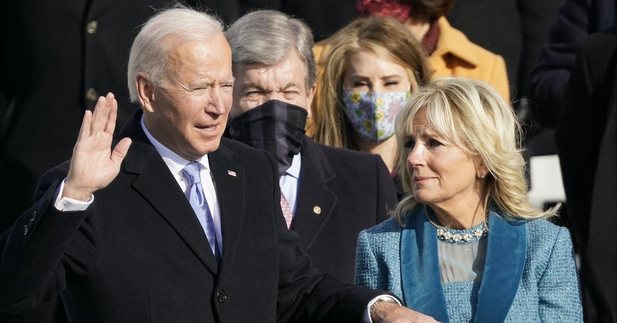 Jill Biden Was Literally The Most Supportive As Joe Biden Was Sworn In As Presiden