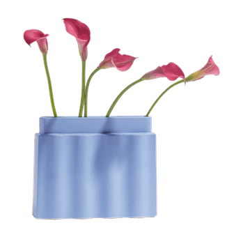 Cornflower Blue Waves Vase