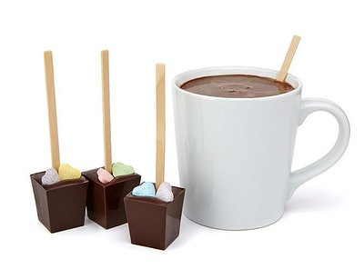 Candy Heart Hot Chocolate on a Stick