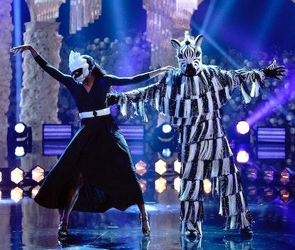 Zebra in 'Masked Dancer' via FOX press site.