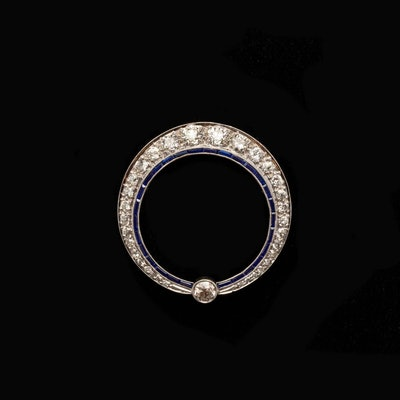 The Art Deco Sapphire and Diamond Brooch