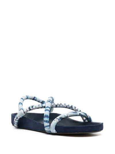 Two-Tone Strappy Sandals