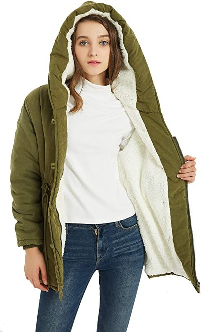 VOGRYE Womens Wool Blended Coat